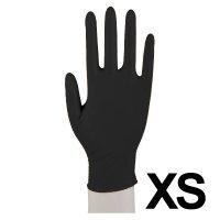Abena, rękawiczki nitrylowe bezpudrowe, rozmiar XS, czarne, 100 sztuk