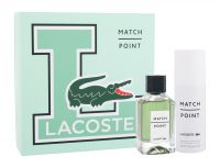 Lacoste Match Point, zestaw: Edt 100 ml + Dezodorant 150 ml (M)