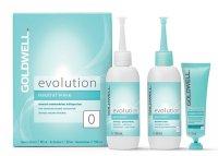 Goldwell Evolution, płyn do trwałej ondulacji, typ 0, do włosów mocnych i naturalnych, zestaw