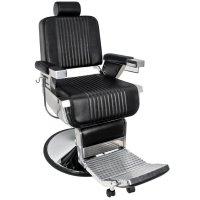 Fotel barberski Gabbiano Royal, czarny