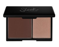 Sleek Makeup Face Contour Kit, paleta do konturowania 2 w 1 bronzer+rozświetlacz, Medium