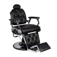 Fotel barberski Gabbiano Pietro, czarny