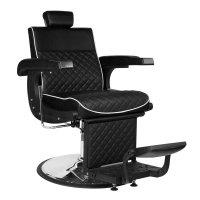 Fotel barberski Gabbiano Lorenzo, czarny