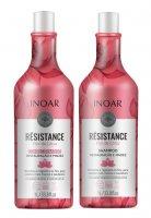 Inoar Resistance Lotus DUO PACK, wegański szampon + odżywka do włosów osłabionych, 2x1l