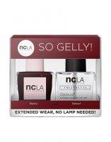 NCLA So Gelly!, zestaw lakier+top do paznokci, Bianca, 2x15ml