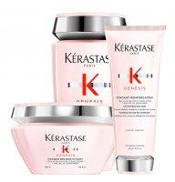 Kerastase Genesis, zestaw przeciw utracie gęstości włosów, 250ml + 200ml + 200ml
