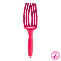 Olivia Garden Fingerbrush Amazonki, szczotka z włosiem z dzika, średnia, neon pink, edycja limitowana