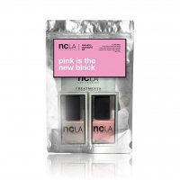 NCLA Pink Is The New Black, zestaw lakierów do paznokci, 2x15ml
