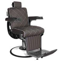Fotel barberski Gabbiano Giuseppe, brązowy