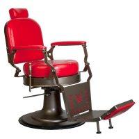 Fotel barberski Gabbiano Red Star, czerwony