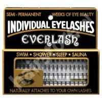 Everlash, kępki rzęs, średnie, czarne, 80 sztuk