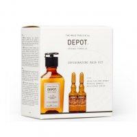 Depot Invigorating, zestaw przeciw wypadaniu, szampon 105 50ml + odżywka 205 2x5ml