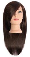 Efalock, główka treningowa Emotion Dina, włosy naturalno-syntetyczne, brązowe, 35cm
