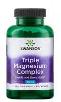 Swanson, triple magnesium complex, 100 kapsułek