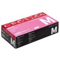 Efalock Emotion, nitrylowe rękawiczki bez pudru, rozmiar M, różowe, 100 szt.