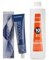 Matrix SOCOLOR.Beauty Extra.Coverage, gotowy zestaw do koloryzacji: farba + oxydant