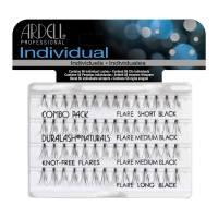 Ardell Individual, Duralash Naturals Knot-Free Flares Combo Black, kępki rzęs, czarne mix