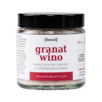 Maseczka do twarzy z czerwoną glinką Iossi Granat i Wino, 120ml - obity słoiczek (zewnętrzna warstwa)