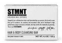STMNT, oczyszczająca kostka do włosów i ciała z węglem aktywnym ,125g