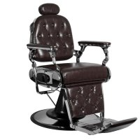 Fotel barberski Gabbiano Francesco, bordowy