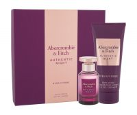 Abercrombie & Fitch Authentic Night, zestaw: Edp 50 ml + Mleczko do ciała 200 ml (W)