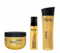 Tahe Botanic Gold, zestaw do włosów rozjaśnianych, szampon + maska + olejek, 300ml + 300ml + 30ml