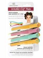 Olivia Garden Double Clip, podwójne klipsy do włosów, małe, 4 szt.