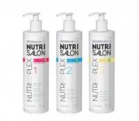 NutriSalon NutriPlex, zestaw regenerujący do włosów po zabiegach chemicznych, 3x500ml