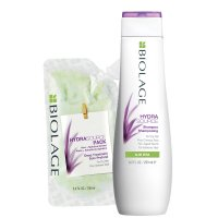 Biolage HydraSource, zestaw nawilżający, szampon+kuracja, 250ml+100ml
