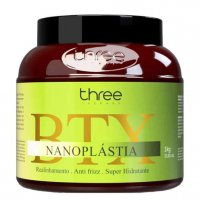 Three Therapy Nanoplastia Botox BTX, kuracja do prostowania włosów cienkich i rozjaśnianych, 1000 ml