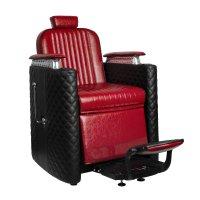 Fotel barberski Gabbiano Bernardo, czerwony