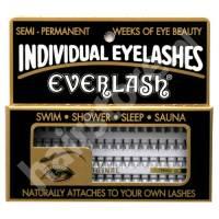 Everlash, kępki rzęs, krótkie, czarne, 80 sztuk