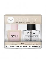 NCLA So Gelly!, zestaw lakier+top do paznokci, Catwalk Queen, 2x15ml