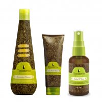 Macadamia, zestaw do pielęgnacji włosów, szampon 300ml + maska 100ml + olejek 125ml