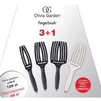 Olivia Garden Fingerbrush, zestaw 4 szczotek (mała, średnia, duża i biała)