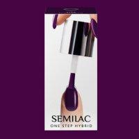 Semilac One Step Hybrid, lakier hybrydowy, 5ml, S780 Plum Wine