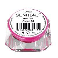 Semilac Only One, żel jednofazowy, 01 Clear