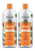 INOAR Bombar Coconut DUO PACK, szampon + odżywka regenerujące, 2x1000ml