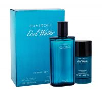Davidoff Cool Water, zestaw: Edt 125 ml + Deostick 75 ml (M)