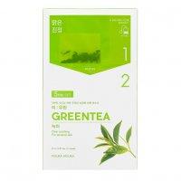 Holika Holika Tea:woolin - Green Tea, dwuskładnikowa maseczka w płachcie