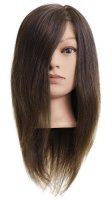 Efalock, główka treningowa Hanna, włosy ludzkie, brązowe, 40-45cm