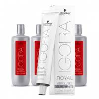 Schwarzkopf Igora Royal Silver White, gotowy zestaw: farba + developer