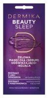 Dermika Beauty Sleep, odświeżająco-kojąca żelowa maseczka piękności, 10ml