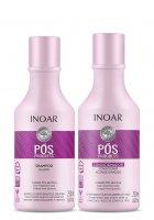 INOAR POS Progress DUO PACK, szampon + odżywka po keratynowym prostowaniu, 2x250ml