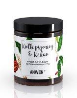 Anwen, maska do włosów o wysokiej porowatości, Kiełki pszenicy i kakao, 180ml
