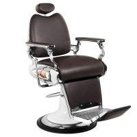 Fotel barberski Gabbiano Moto Style, brązowy