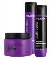 Matrix Color Obsessed, zestaw do włosów farbowanych, 300ml + 300ml + 150ml