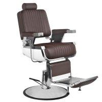 Fotel barberski Gabbiano Royal II, brązowy
