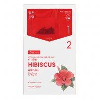 Holika Holika Tea:woolin - Hibiscus, dwuskładnikowa maseczka w płachcie
