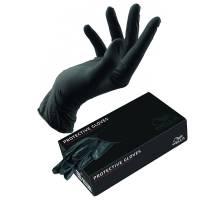 Wella, rękawiczki jednorazowe, czarne, 2 sztuki